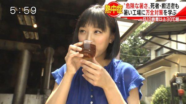 【画像あり】テレ朝・竹内由恵アナ(32)がインナーまで汗だくになりながら野外レポート これはパンティーもビショビショ